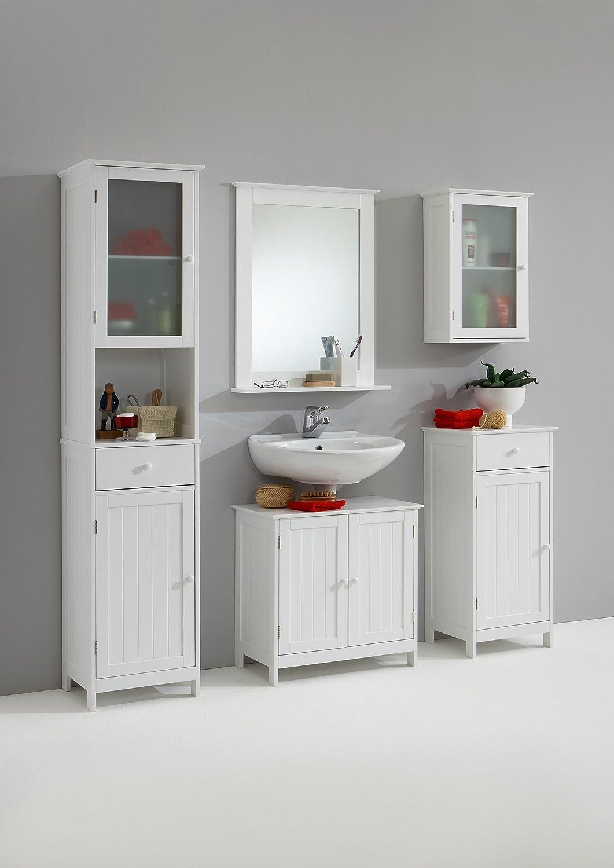 Fmd Tall Bathroom Cabinet Stockholm 1, 40 X 180 X 35 Cm, White:  Amazon: Kitchen & Home