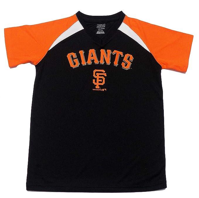 huge inventory afd8a 3dffd Amazon.com: San Francisco Giants Black Wordmark Youth Kids V ...
