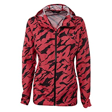 bbad91495551 The North Face Women s Flyweight Hoodie (Raspberry Red Marker Mountain  Print