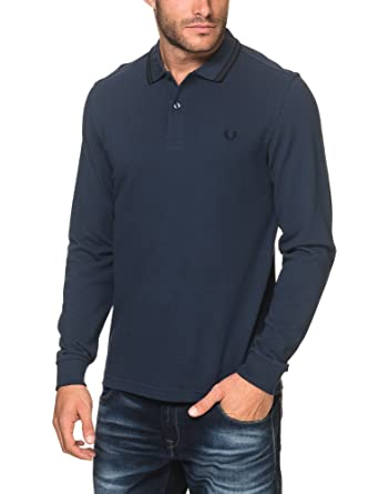 Fred Perry Fp LS Twin Tipped, Polo para Hombre, Azul (Deep Night ...