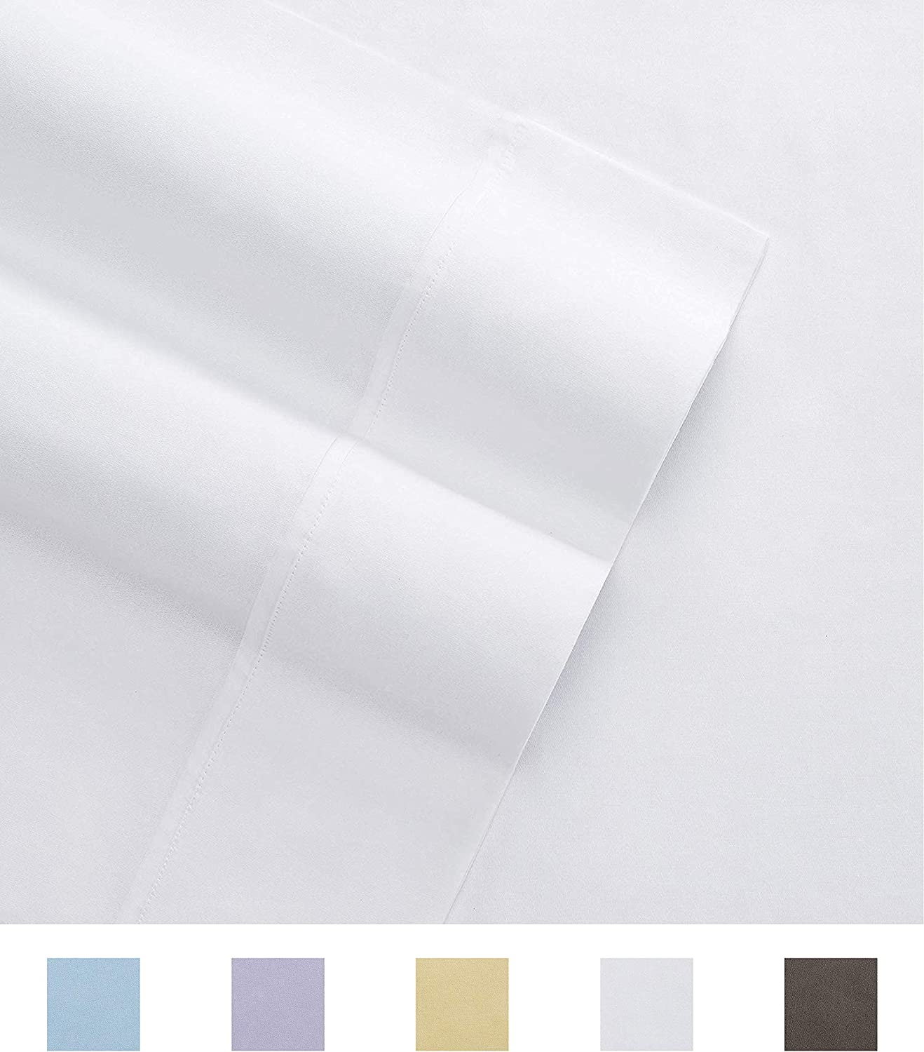 Columbia Organic Cotton Sateen Weave Performance Sheet Set – 300TC with Omni-Wick Moisture Wicking Stay Dry Technology - 100% GOTS Certified Organic Cotton – Full 4-Piece Sheet Set, Bright White