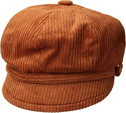 1cfa03fe7e1b8 San Diego Hat Company Women s CTH8126 Wide Wale Corduroy Baker Boy Cap with  Floral Embroidery Button