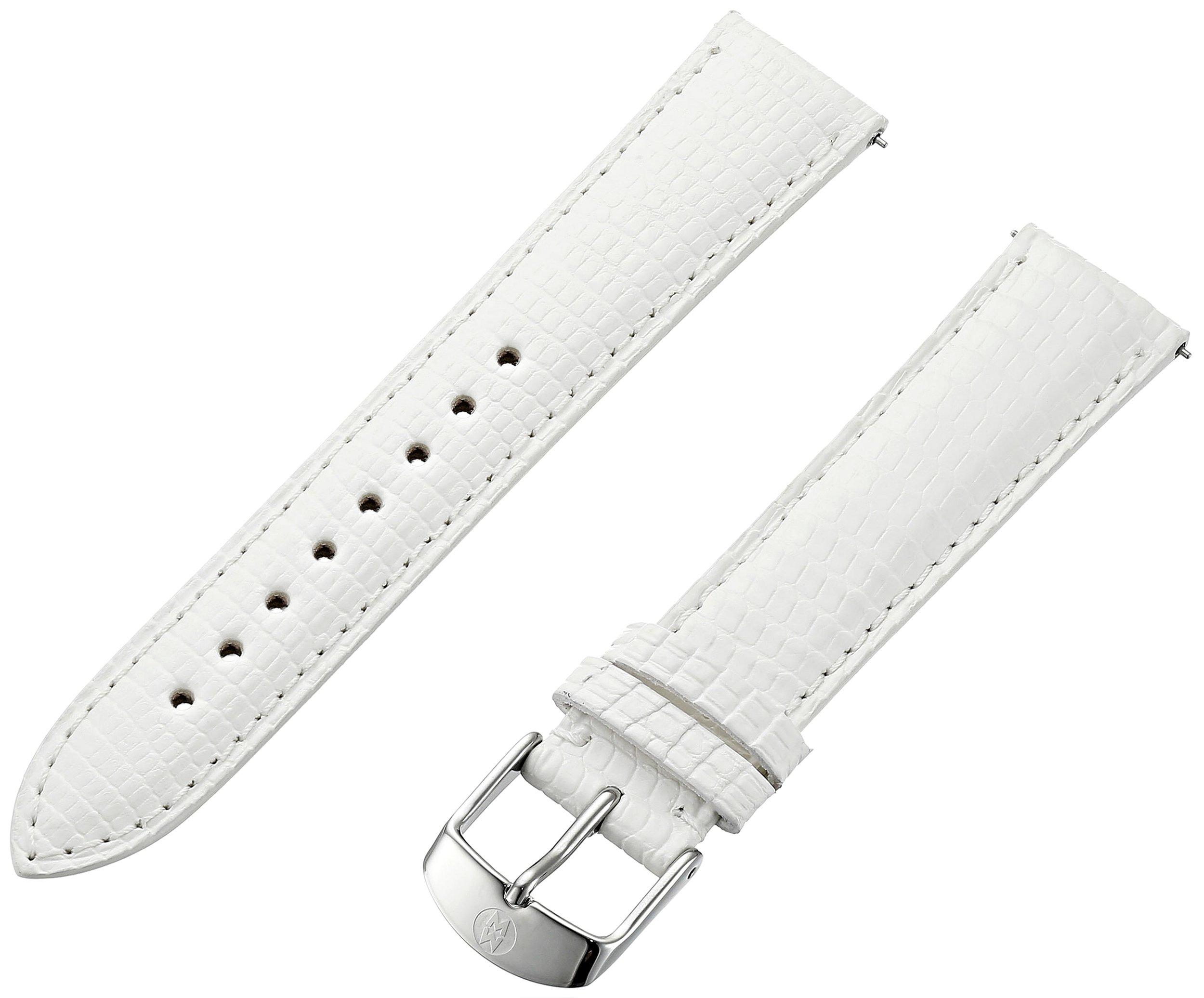 MICHELE MS16AA030151 16mm Leather Lizard White Watch Strap