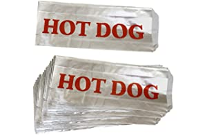 Printed Foil Hot Dog Bags - 50 Pack - Silver Red by Outside the Box Papers