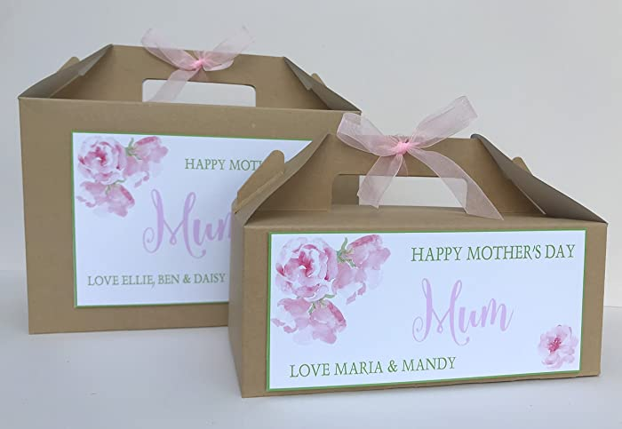 Personalised Mothers Day Gift Box Treats Pamper Hamper Flowers