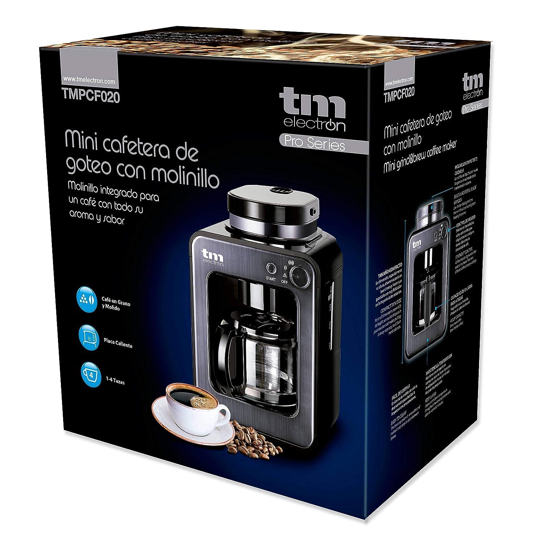 TM Electron TMPCF020G Mini cafetera de Goteo con Molinillo Grano ...
