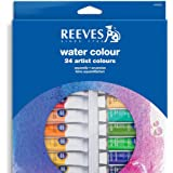 Reeves 24-Pack Water Color Paint Set, 10ml (8494252)