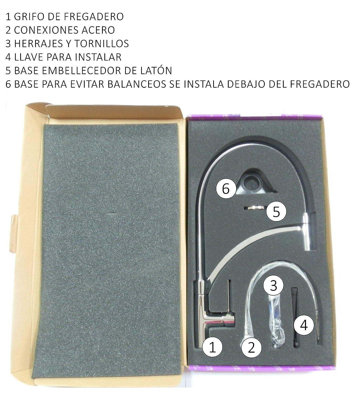 OXEN 161804 Monomando de fregadero extraible: Amazon.es: Bricolaje y herramientas
