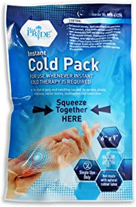 """Medpride Instant Cold Pack (6""""x 9"""") – Set of 24 Disposable Cold Therapy Ice Packs for Pain Relief, Swelling, Inflammation, Sprains, Strained Muscles, Toothache – for Athletes & Outdoor Activities"""