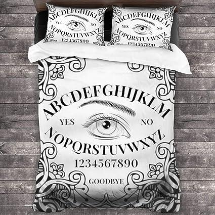 Ouija Board Orakel - Juego de ropa de cama de 3 piezas (86 x
