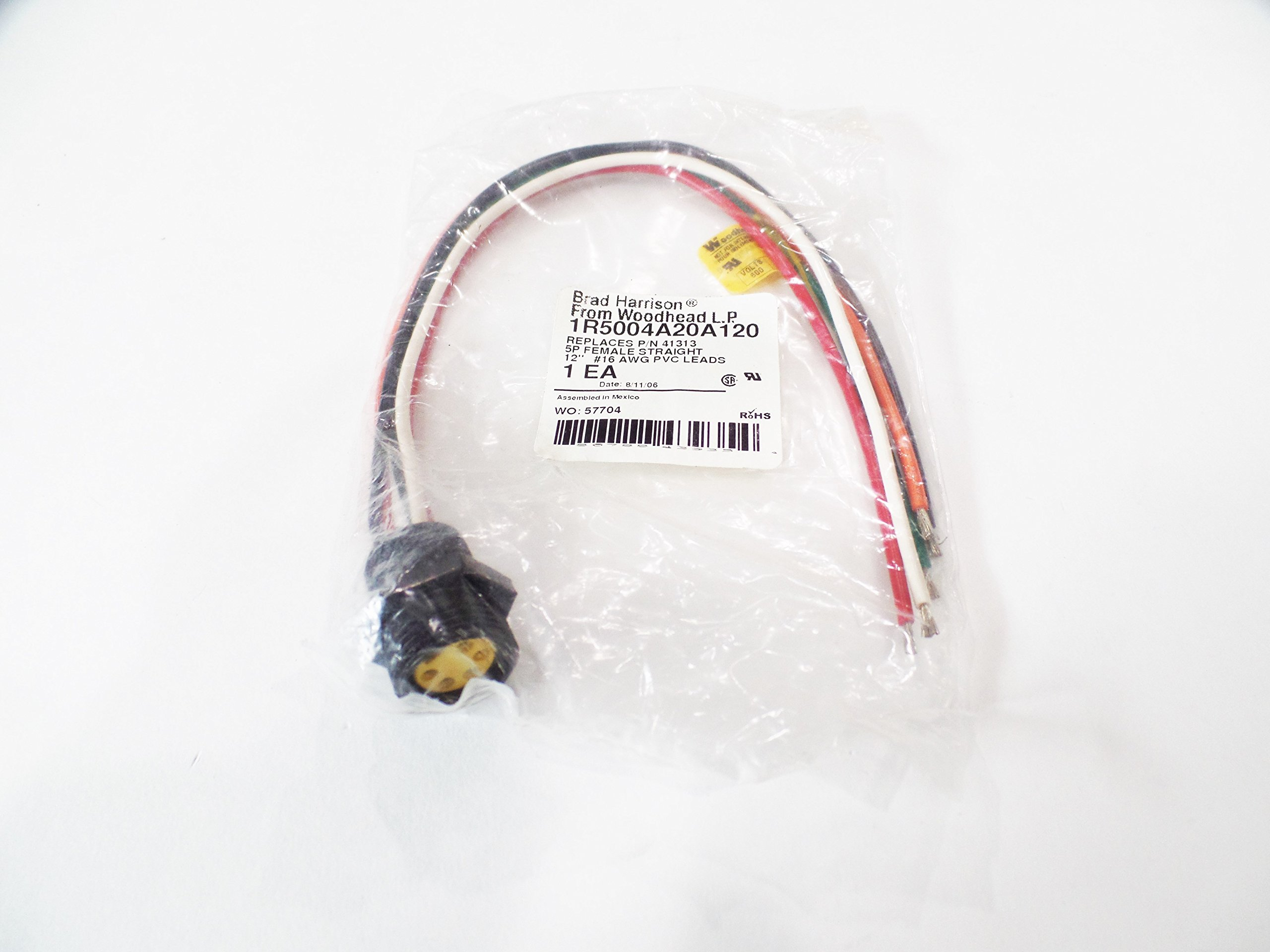 Woodhead 1R5004A20A120 Micro-Change (M12) Single Keyway with PG7 Cable Fitting MIC 4P M/M-ATTCH STR PG7 SCREW