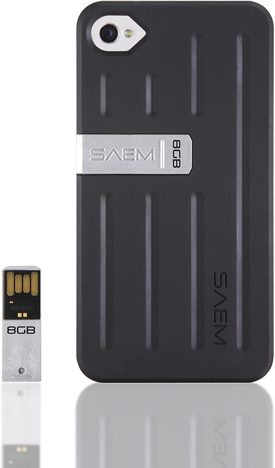 Veho VUS-001-4B SAEM S7 Case with 8GB Integrated USB Memory Drive for iPhone 4/4S - Tacton Black