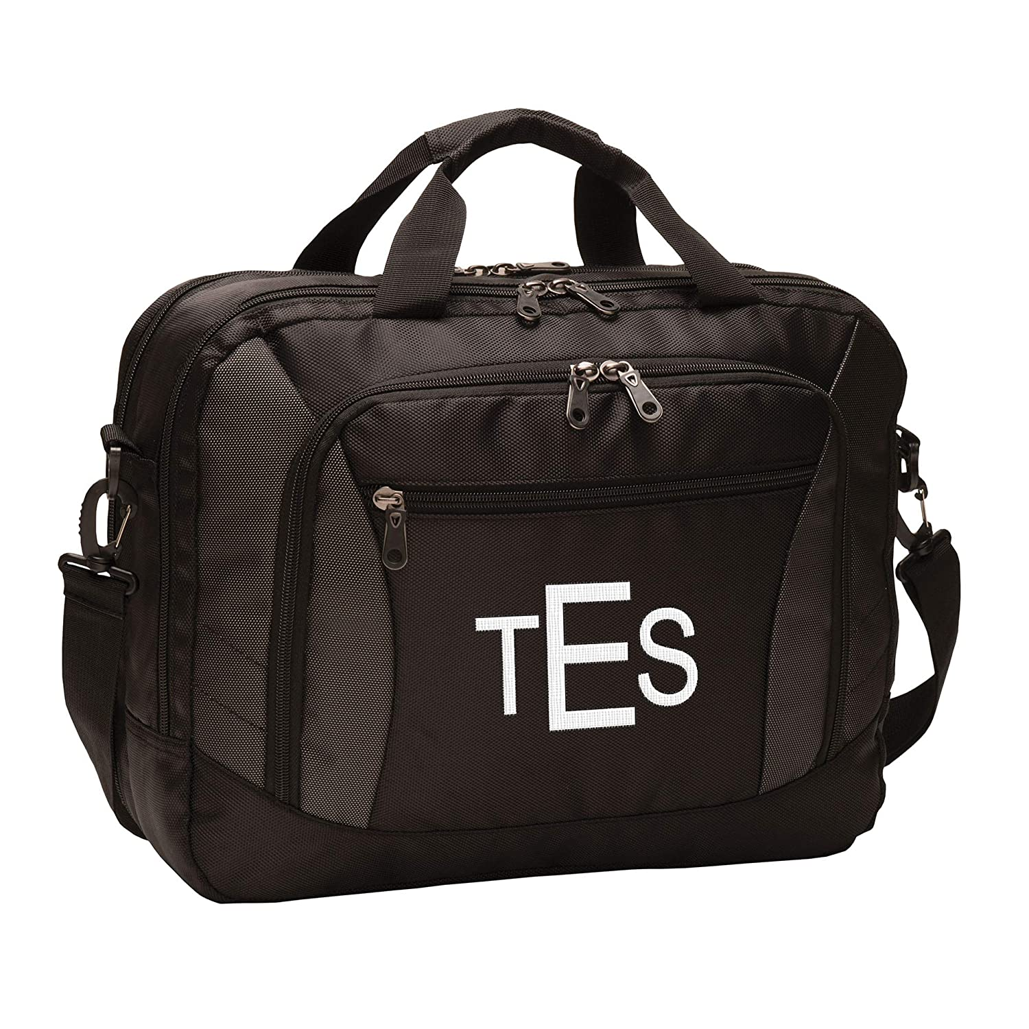 TSA Friendly Up to 15 inch Laptops Add Your Embroidered Logo Personalized Custom Commuter Brief Messenger Bag for Men /& Women