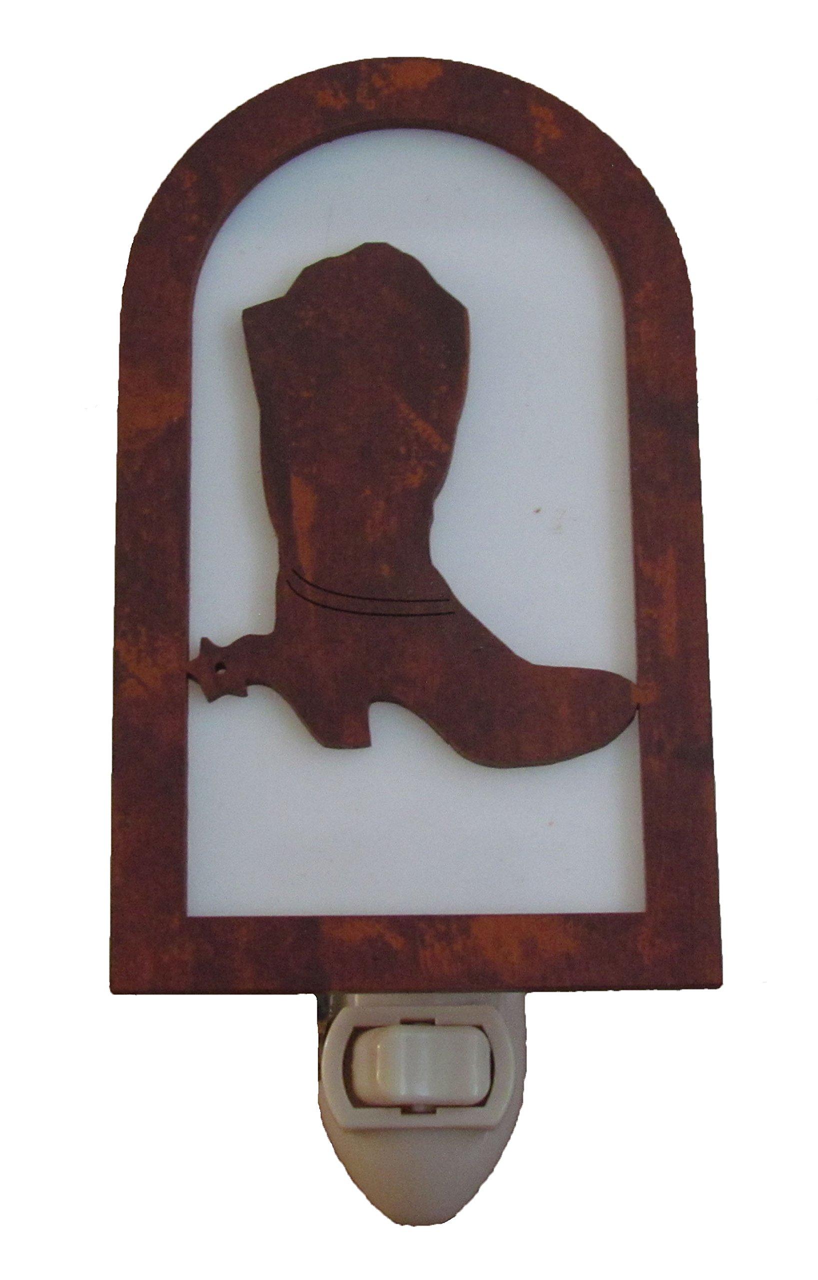 Rustic Boot Nightlight Made in USA Western Decor