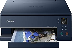 Canon TS6320 All-In-One Wireless Color Printer with Copier, Scanner and Mobile Printing, Navy, Amazon Dash Replenishment