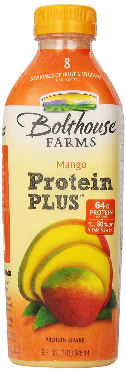 Amazon.com : Last Chance Sale Bolthouse Farms, Protein PLUS Mango, 32 oz (shelf life) : Grocery & Gourmet Food