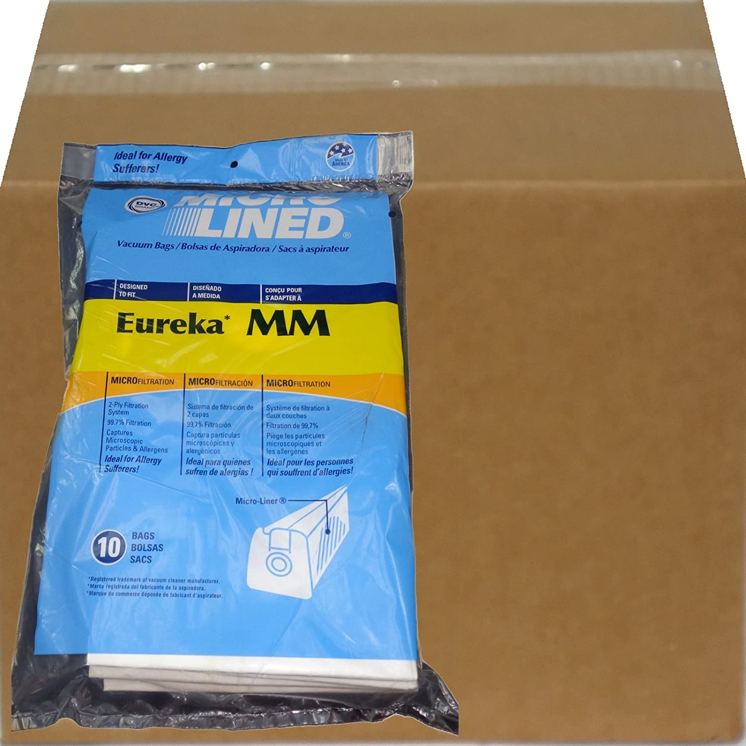 Eureka MM Micro-lined Mighty Mite & Sanitaire Allergen Filtration Vacuum Cleaner Bags (100)