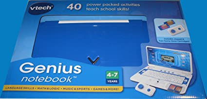 Vtech Genius Notebook Laptop Computer (Blue) w/ Joypad & 2 Games