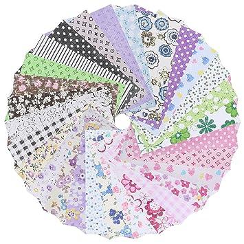 50pcs Cotton Material Nähen Square Floral Handwerk DIY Patchwork ...