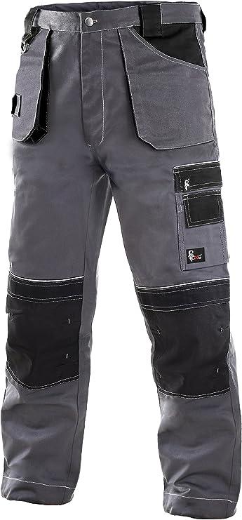 teXXor Latzhose Blau//Schwarz Herren Arbeitshosen Canvas Kniepolstertaschen