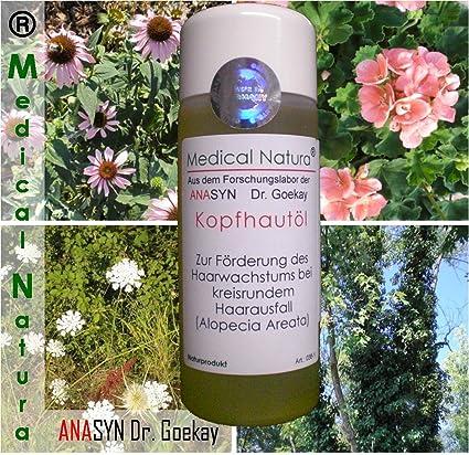 100 ml kopfhautöl, kreisrunder caída del cabello, alopecia areata. Producto natural.