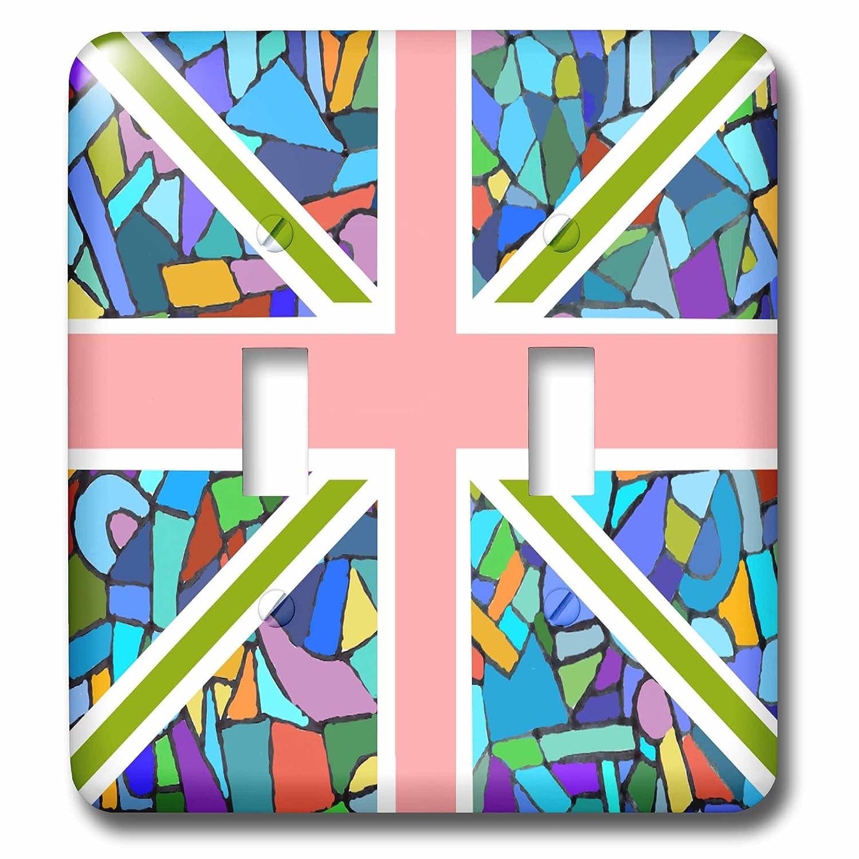 【本物新品保証】 3drose_ LSP_ 58320 3drose_ 2ブルーモザイクユニオンジャックイギリス英語国旗イギリスEngland Patrioticデザインダブル切り替えスイッチ B00F6DUSLW B00F6DUSLW, 大河内町:98d3ba07 --- svecha37.ru