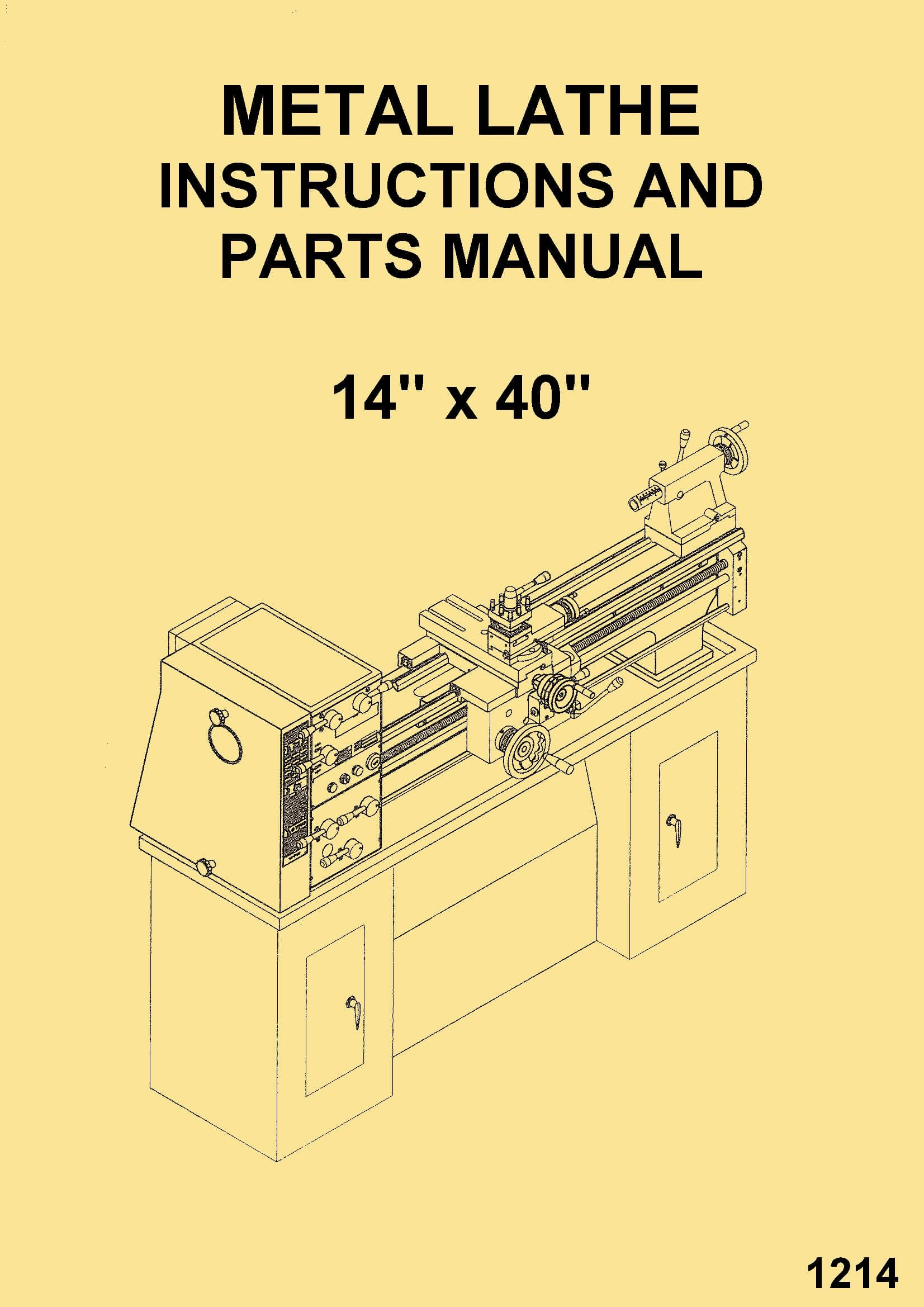 Turn-Pro Enco-JET-Asian 14x40 Metal Lathes 328-6153 328-6135 Instructions  Operator's & Parts Manual: Misc.: Amazon.com: Books