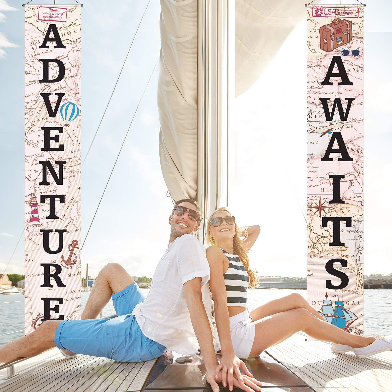 Amazon.com: Adventure Awaits Bon Voyage - Guirnalda ...