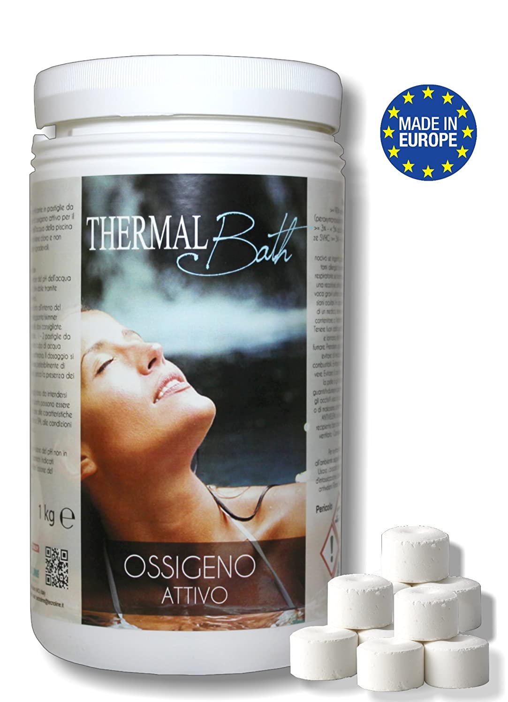 Oxígeno activo (Pastillas de 20 gr. - conf.KG.1, 2 + 2 L de agua termale Natural (inodora) para hidromasaje, Spa y Piscina - Envío immediata: Amazon.es: ...