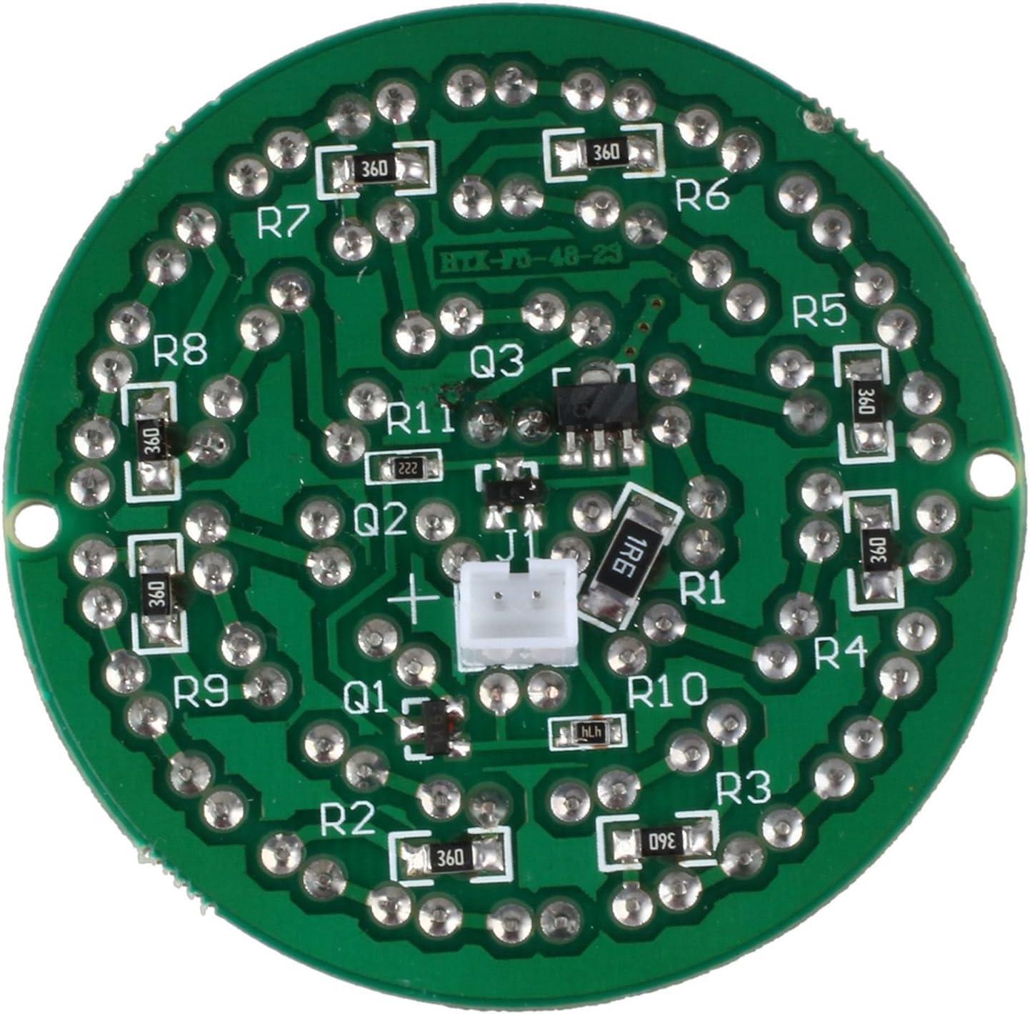 TOOGOO Panel infrarrojo infrarrojo de 90 grados LED 48 LED infrarrojo 940nm invisible por la noche sin exposicion a la luz para iluminador IR Accesorios CCTV
