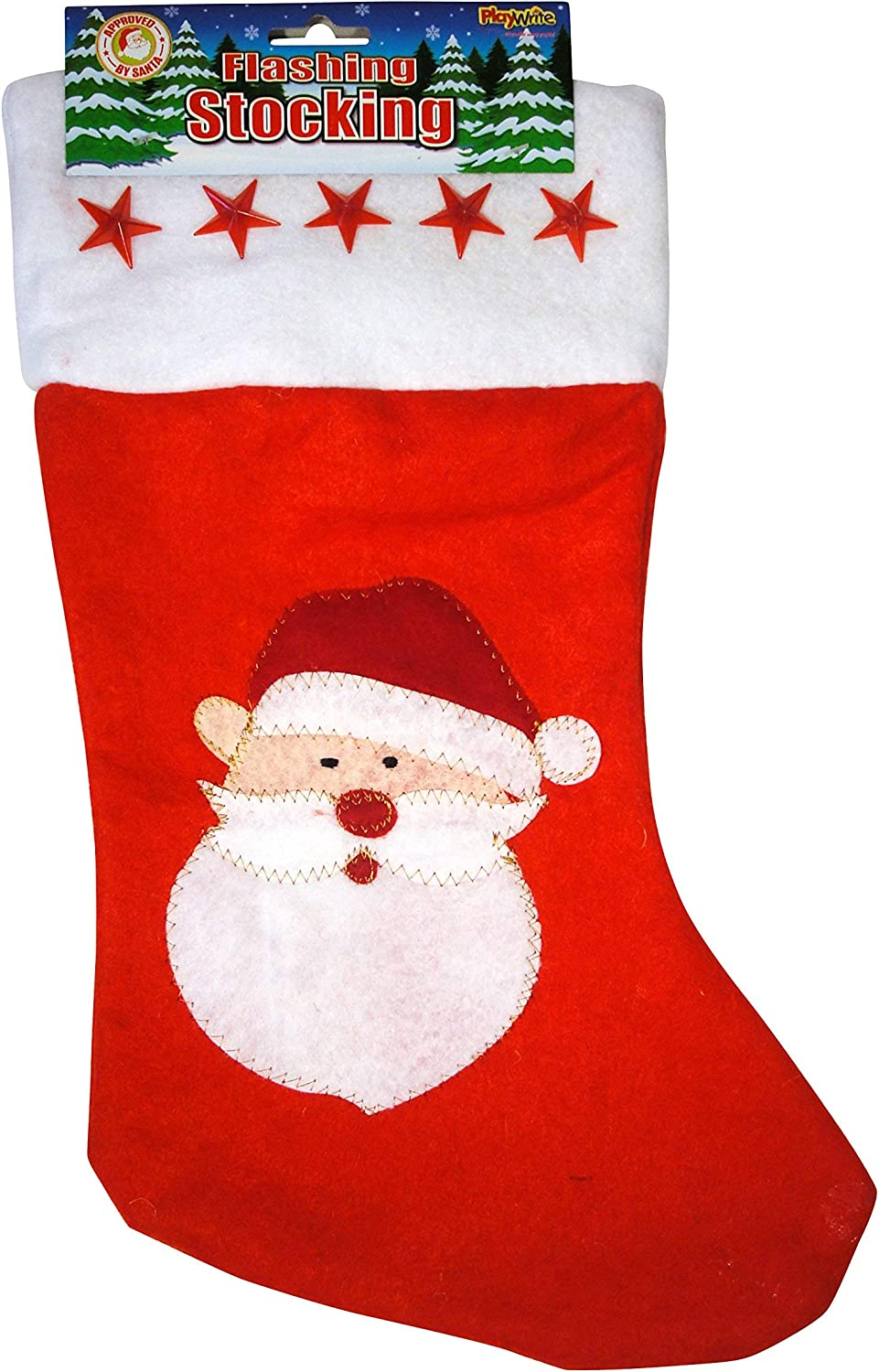 Playwrite 2 Assorted Stockings with LED Lights