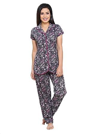 abec30b12 Boring Dress Women s Hosiery Cotton Knitted Women s Shirt and Pajama Set  Night Suit Nighty