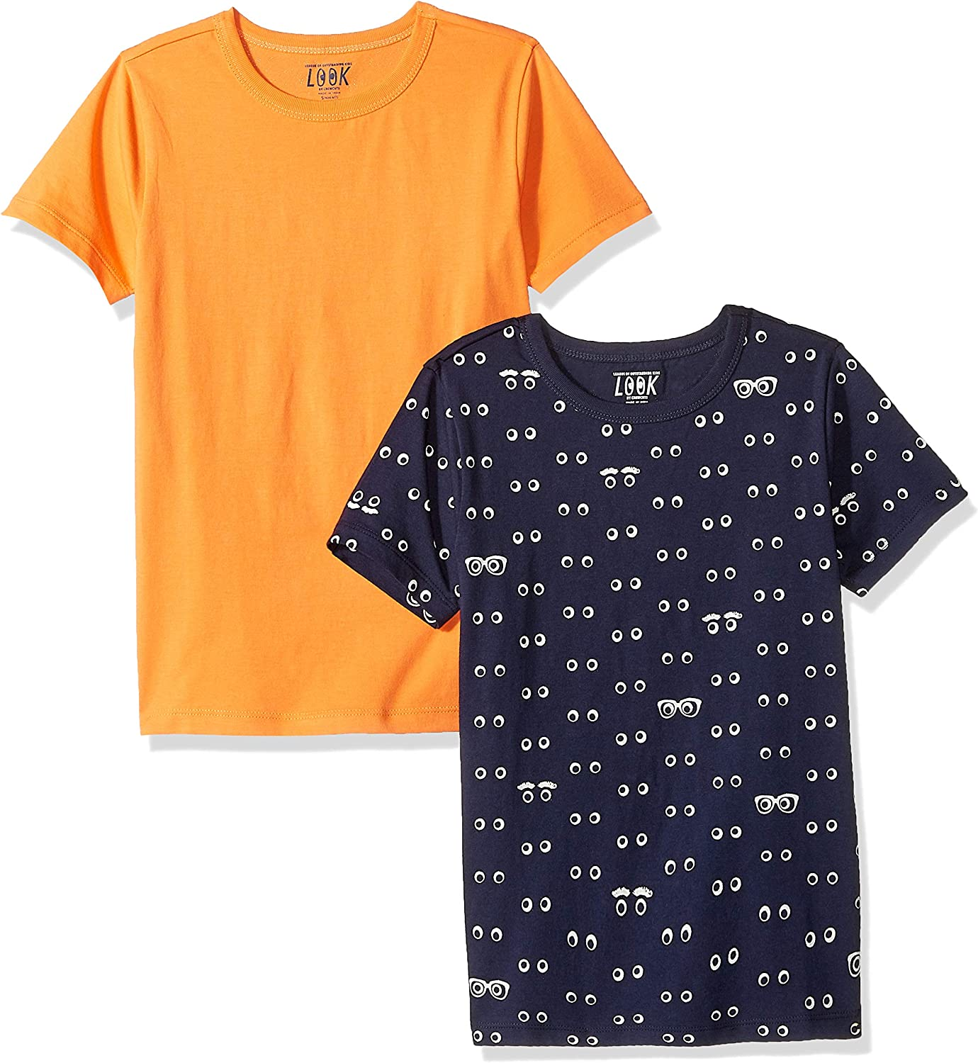 Crew Brand // J LOOK by crewcuts Boys 2-Pack Print//Solid Short Sleeve T-Shirt