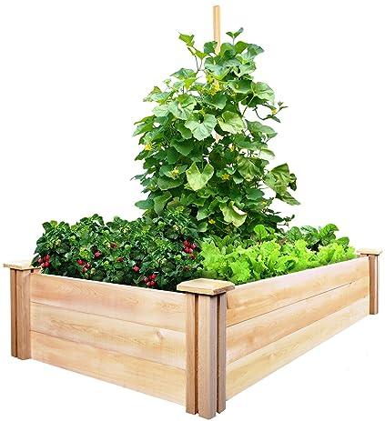 Greenes Fence Cedar Raised Garden Kit 2 Ft. X 4 Ft. X 10.5 In