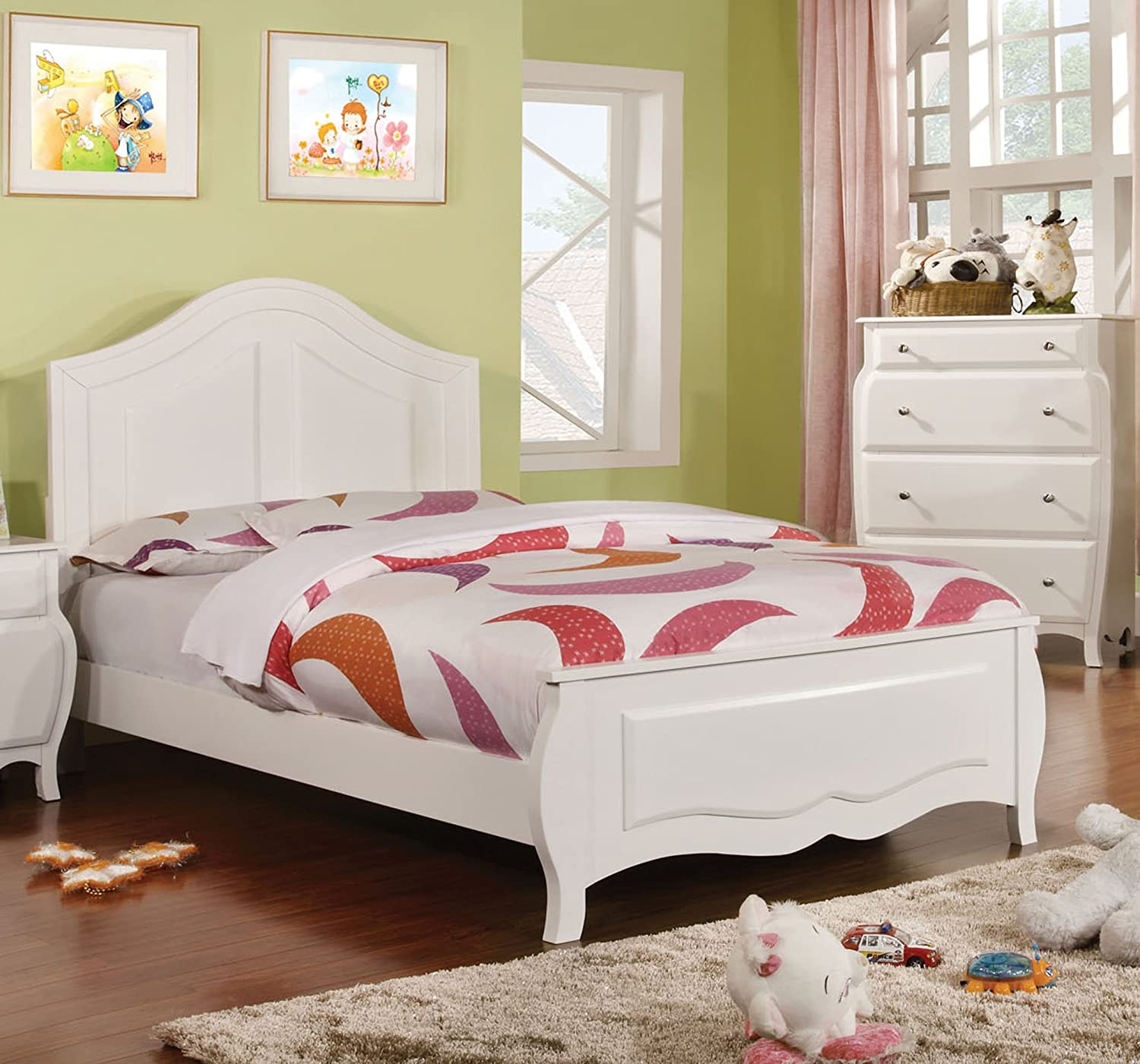 Amazon.com: Furniture Of America Lionel Size Youth Bedroom, Twin, White:  Kitchen U0026 Dining