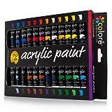 Colore Acrylic Paint Set - 24 Colors