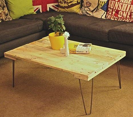 Sunny Side Interiors Pinza regenerado Palet Mesa de café de ...