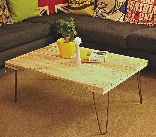 Sunny Side Interiors Pinza regenerado Palet Mesa de café de Madera ...