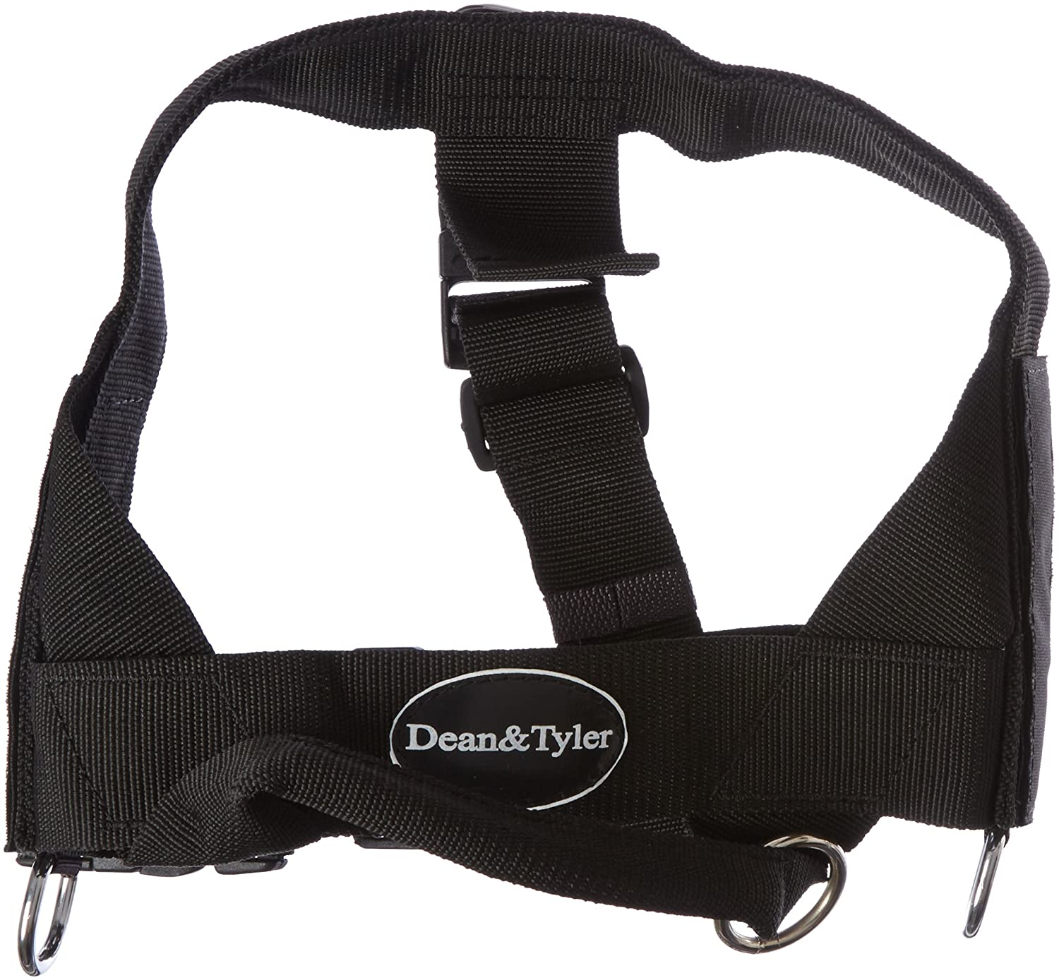 Dean & Tyler Universal No Pull 26-Inch to 32-Inch Dog Harness, Medium, US Military K9, Black