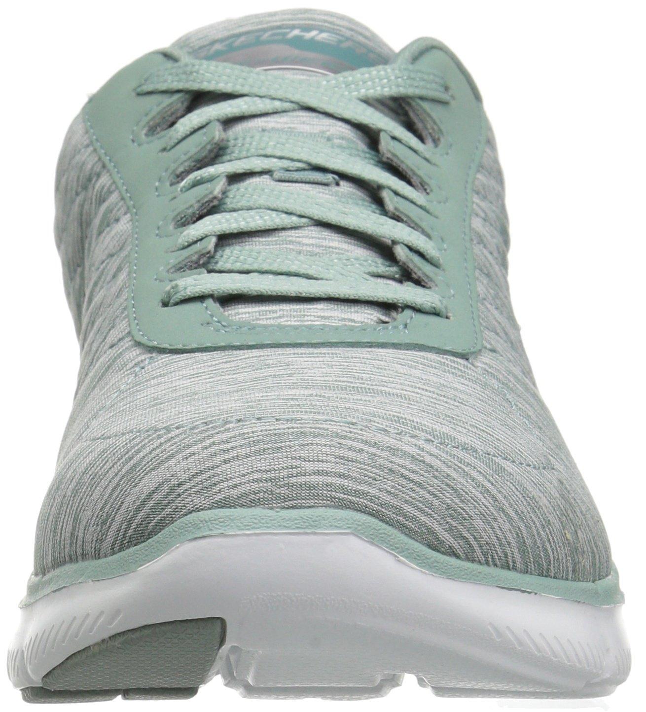 Skechers Women's Flex Appeal 2.0 Sneaker B076DPKHQM 8.5 B(M) US|Sage White Trim