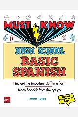 Must Know High School Basic Spanish Paperback