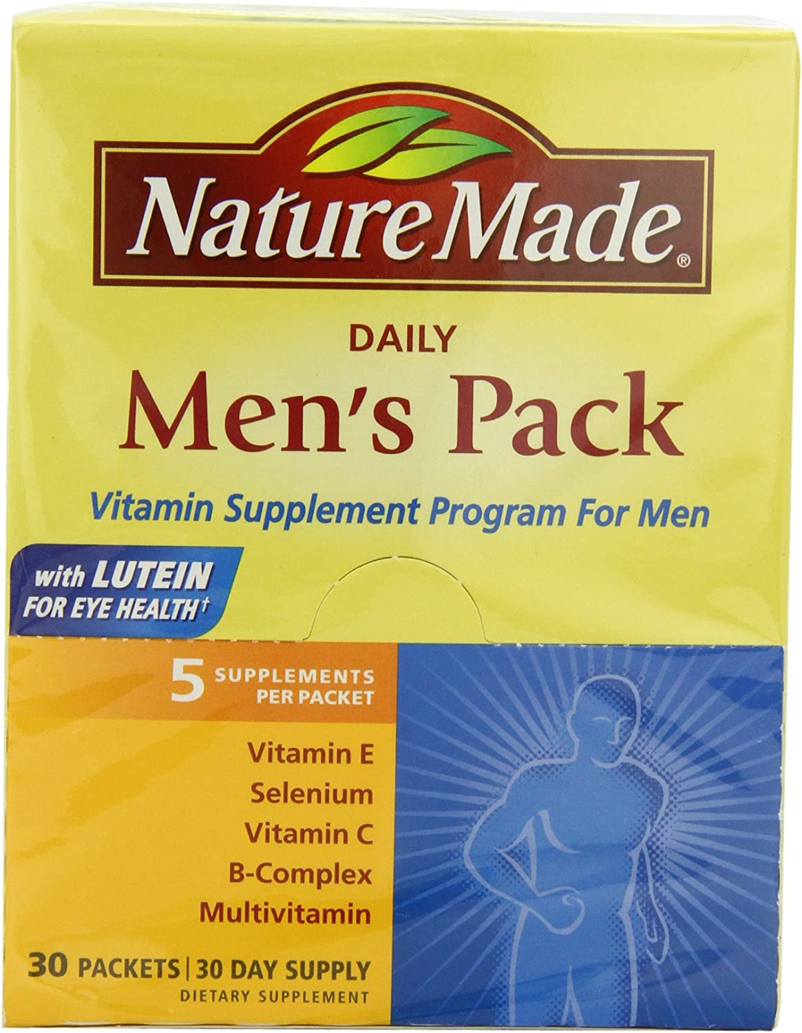 Nature Made Daily Men s Pack Vitamin Supplement Program 30 Each
