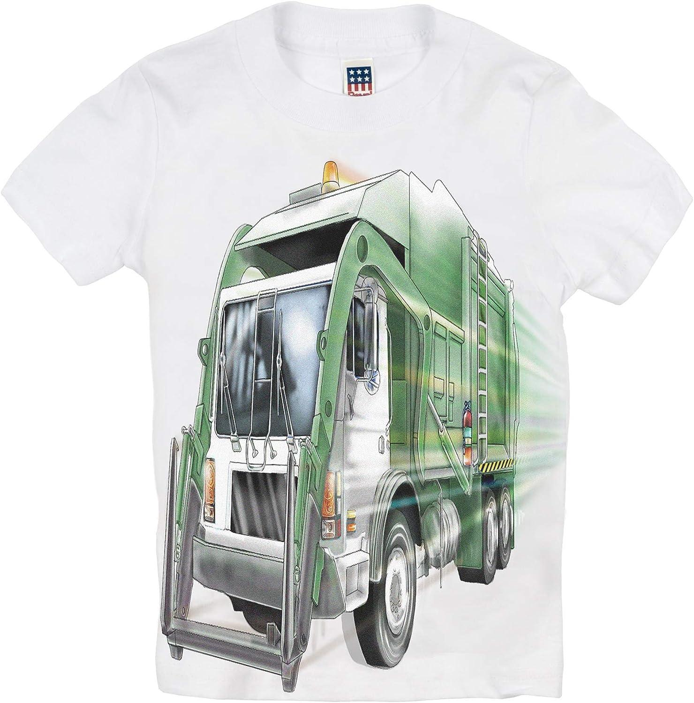 Shirts That Go Little Boys' City Garbage Truck T-Shirt
