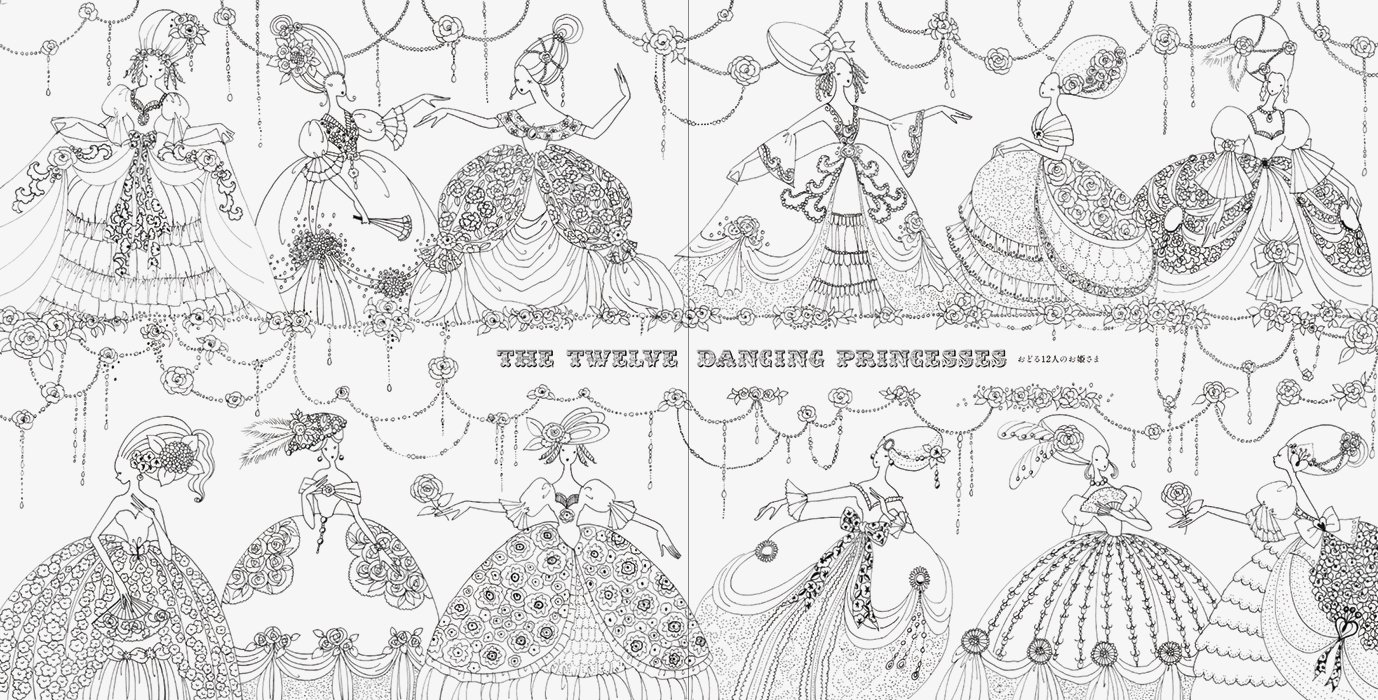 Japanese princess coloring pages - Fairy Tale Colouring Book Japanese Edition Tomoko Tashiro 9784756245823 Amazon Com Books