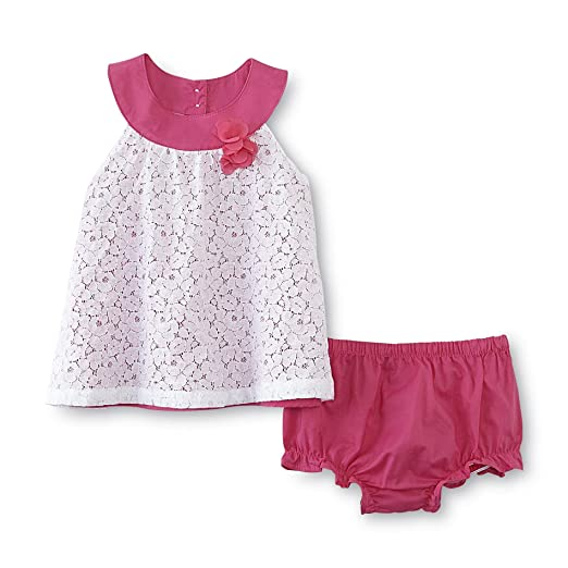 amazon com small wonders baby girl s sleeveless dress diaper