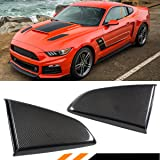 For 2015-2017 Mustang R Style Carbon Fiber Side Window Quarter Scoop Louver Covers