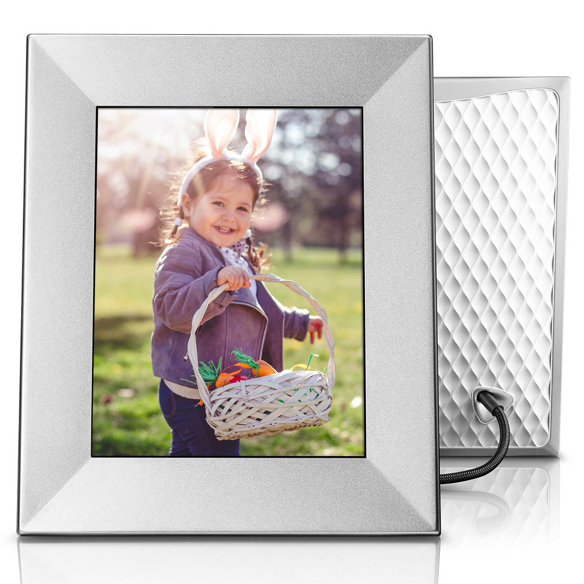Nixplay Iris 8'' Wi-Fi Cloud Frame (W08E- Silver) by nixplay