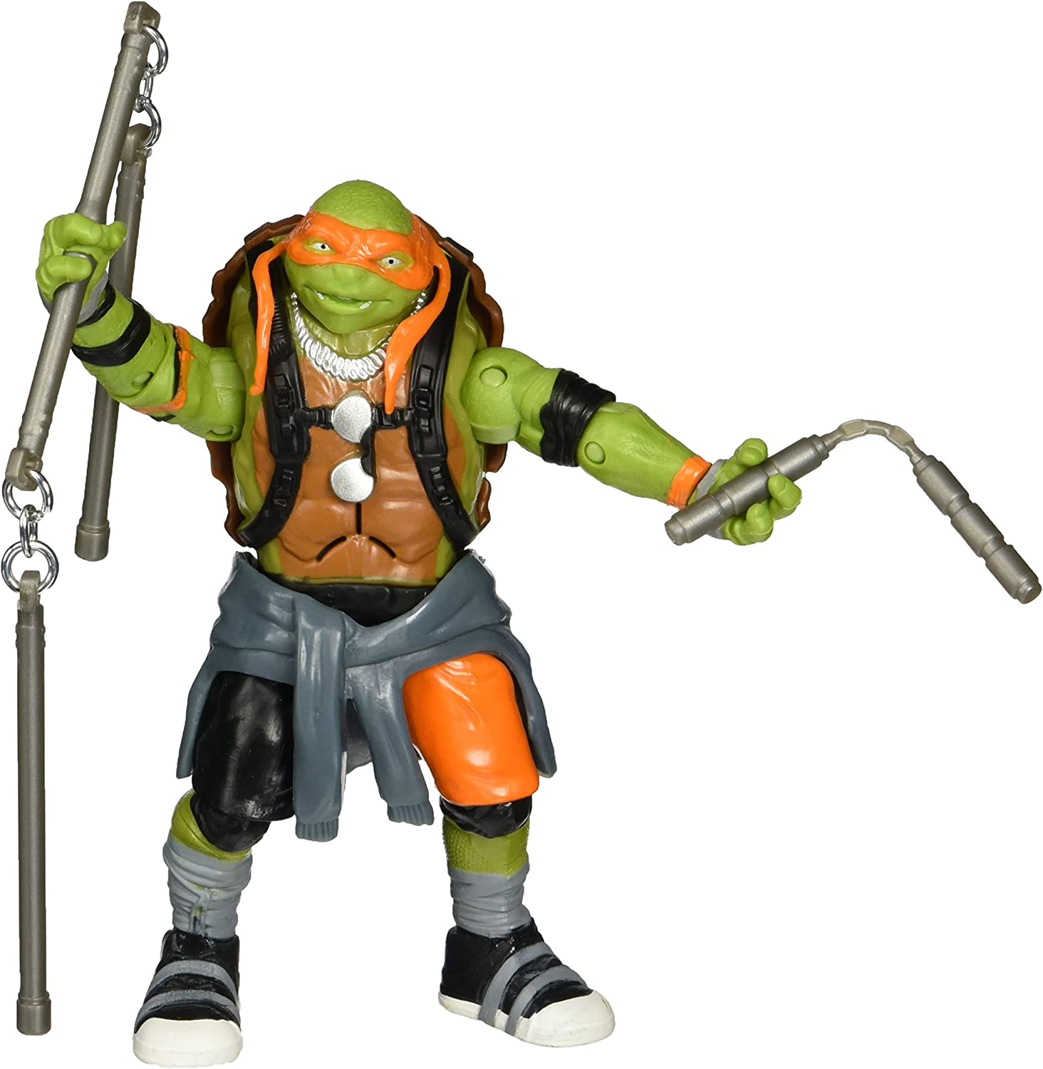 Amazon Com Teenage Mutant Ninja Turtles Movie 2 Out Of The Shadows Michelangelo Deluxe Figure Toys Games