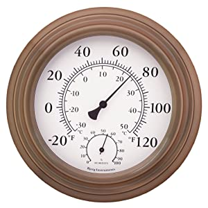 Bjerg Instruments Antique Indoor/Outdoor Thermometer