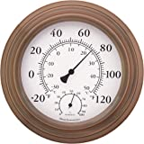 """8"""" Antique Copper Finish Decorative Indoor / Outdoor Thermometer and Hygrometer"""